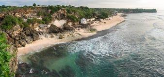 Balangan海滩 在视图之上 巴厘岛 印度尼西亚 免版税图库摄影