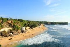Balangan海滩,巴厘岛看法  免版税图库摄影