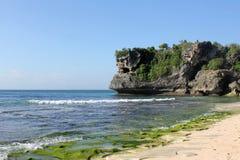 Balangan海滩,巴厘岛 库存照片