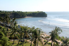 Balangan海滩,巴厘岛 免版税库存照片