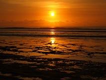 balangan заход солнца Стоковые Фотографии RF