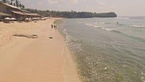 Balangan Beach Bali aerial slow motion stock video