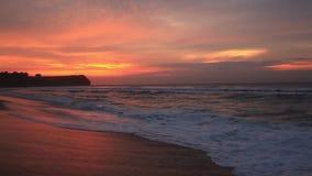 Balangan beach at sunset. Bali, Indonesia. Balangan beach at sunset in Bali, Indonesia stock video