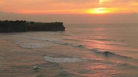 Balangan beach at sunset. Bali, Indonesia. Balangan beach at sunset in Bali, Indonesia stock footage