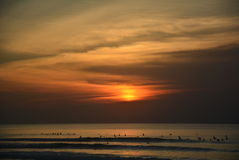 Balangan beach. Sunset Stock Photos