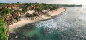 Balangan beach. View from above. Bali. Indonesia. Royalty Free Stock Photography