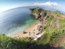 Balanganstrand in Bali Indonesië - de achtergrond van de aardvakantie Royalty-vrije Stock Foto