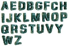 Balani sulle lettere di alfabeto fotografie stock libere da diritti