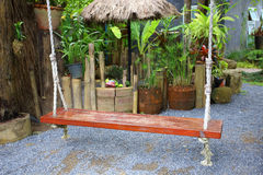 Balanço de madeira Foto de Stock Royalty Free