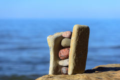 Balansera av stenar Arkivbilder