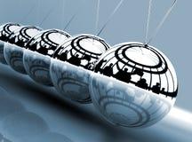 balansera bollar cradle newton s Royaltyfri Bild