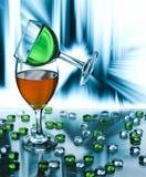 balansera exponeringsglas en annan wine två Royaltyfria Foton