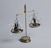 balansera spelrumarbete Arkivbild