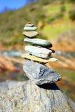 balansera stenar Arkivbilder