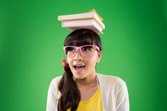 Balansować książki zdjęcie royalty free