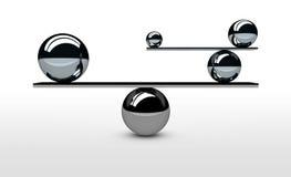 Balansować Perfect system równowagi pojęcie Zdjęcie Stock