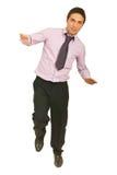 balansowy biznesowy mężczyzna Zdjęcia Stock