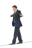 balansowy biznesowy mężczyzna Zdjęcie Stock
