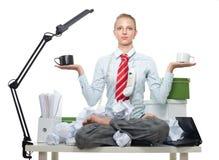 balansowy biznesowy zły dobry Fotografia Royalty Free