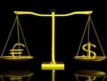 balansowy dolarowy euro royalty ilustracja
