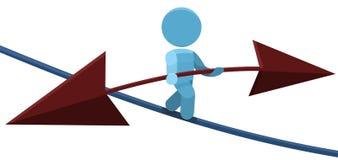 balansowy ilustracyjny mężczyzna arkany balansowanie na linie odprowadzenie Obraz Royalty Free