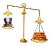 Balansowy jedzenie z ciężarem zdjęcia royalty free