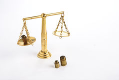 balansowy złoty Zdjęcie Royalty Free
