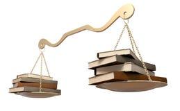 Balansuje książki skala Fotografia Stock
