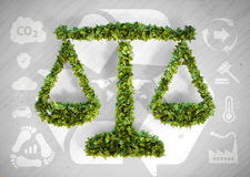 Balanza de la ecología Imágenes de archivo libres de regalías
