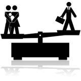 Balanza de la familia y del trabajo ilustración del vector
