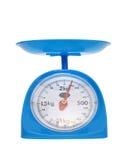 Balanza de la medida del peso Fotografía de archivo