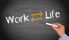 Balanza de la vida del trabajo Fotos de archivo libres de regalías