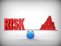 Balanza de riesgos. Concepto abstracto. Fotografía de archivo libre de regalías