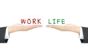 Balanza del trabajo y de la vida Imagenes de archivo