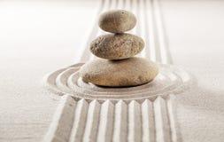 Balanza del zen para la concentración y el bienestar Foto de archivo
