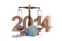 Balanza por el Año Nuevo Fotografía de archivo