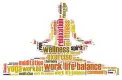 Balanza y bienestar de la vida del trabajo libre illustration