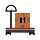 balanza y caja, gráfico Foto de archivo