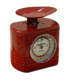 Balanzas de la cocina roja Fotografía de archivo