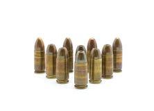 Balas da polícia 9mm  Fotografia de Stock Royalty Free