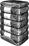 Balas de algodón stock de ilustración