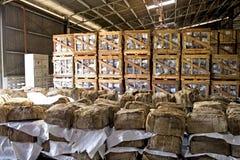 Balas de borracha no armazém Fotografia de Stock