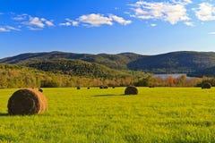 Balas de heno de Catskills en otoño Imagen de archivo libre de regalías