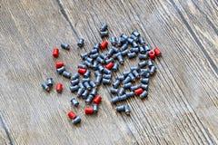 Balas de la ventaja para las armas neumáticas Balas del calibre 4 5 milímetros Imagen de archivo libre de regalías