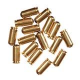 balas de 9mm isoladas no branco fotografia de stock royalty free