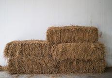 Balas de paja del arroz Imagenes de archivo