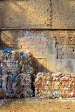Balas de reciclar el papel Foto de archivo libre de regalías