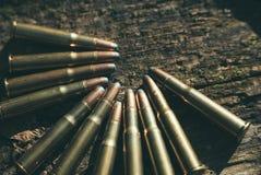 44 balas del calibre Imagenes de archivo