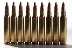 Balas del rifle Fotos de archivo libres de regalías