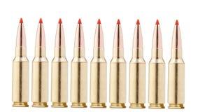 Balas del rifle en blanco Fotografía de archivo